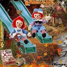 Mitzi26 Challenge Autumn Raggedy Ann & Andy