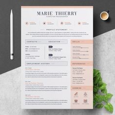 Get off your order when you buy 2 items at this shop. Discount is shown at checkout or uses this discount code: to the Resume Inventor!★★★★★We make every piece… Web Design, Design Social, Resume Design, Design Layouts, Graphic Design, Design Art, Free Resume Examples, Great Resumes, Best Resume