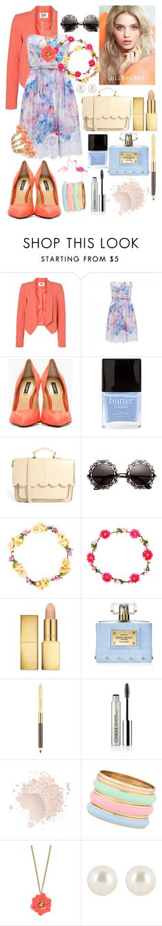 """Spring"" by emmajrobertson ❤ liked on Polyvore featuring beauty, Vero Moda, Forever New, Dolce&Gabbana, Butter London, ASOS, Jill Stuart, AERIN, Versace and Elizabeth Arden"