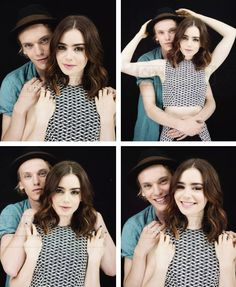 Jamie Campbell Bower & Lily Collins + EW Photoshoot.