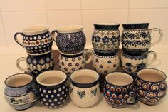 Polish Pottery Mugs