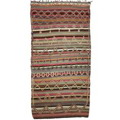 Vintage Moroccan Kilim Rug | From a unique collection of antique and modern moroccan and north african rugs at https://www.1stdibs.com/furniture/rugs-carpets/moroccan-rugs/
