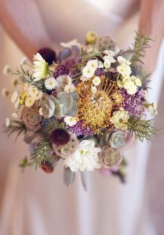 My dream bridal bouquet. Colorful and somewhat wild. #wedding #flower #bouquet