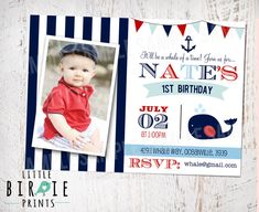 Hey, I found this really awesome Etsy listing at https://www.etsy.com/listing/187719865/whale-invitation-birthday-party-preppy