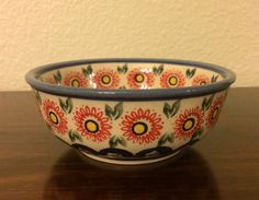 Polish Pottery Bowl by MimisMiniMarketplace on Etsy