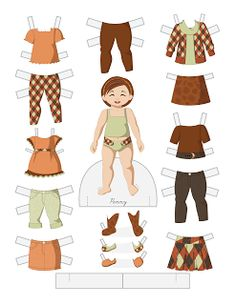Paper Doll School: Toddler Fashion Friday - Penny