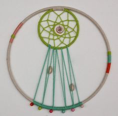 10 Double Dream Catcher in Pastel and Bright by slateandsage