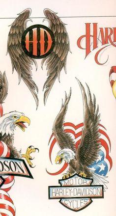 04 548x1024 American Eagle Harley Davidson Tattoo with Blueprint