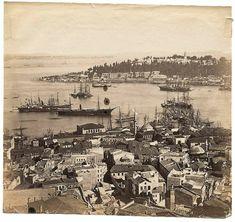Galata Kulesinden tarihi yarımadaya bakış 1880 sonları