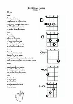 David Bowie war seiner Zeit weit voraus modisch und musikalisch ein ganz grosser Künstler. Es ist ein einfacher Song um ihn auf der Ukulele zu spielen. Das Lead Sheet hat den Text und die Akkorde, viel spass beim Ueben Ukulele On Guitar Chords And Lyrics, Music Theory Guitar, Easy Guitar Songs, Guitar Chords For Songs, Music Guitar, Playing Guitar, Ukulele Tuning, Ukulele Tabs, Ukulele Chords