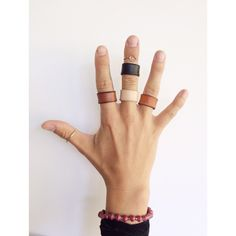 Leather. Rings. In the shop! #madeintheusa #handmade #etsy #1311olive
