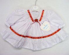 Kinder  Baby Girls Traditional V Trim Frill  Dress (DC1795) #Kinder #CasualFormalParty
