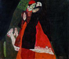 Cardinal and Nun, 1912 by Egon Schiele