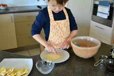 making gyoza with kids