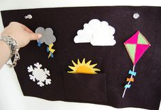 Weather symbols for our felt board Felt Patterns, Sewing Patterns Free, Free Pattern, Sewing Ideas, Felt Diy, Felt Crafts, Baby Crafts, Make Your Own, Make It Yourself