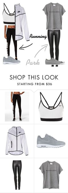 """Zoe Parker •2"" by maja-bialkowski on Polyvore featuring NIKE, The Row and Converse"