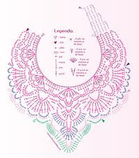 als inzet voor shirt Free Patterns: With the arrival of cold, crochet collars are fashionable. alice brans posted Gráfico maxi colar em crochê to their -crochet ideas and tips- postboard via the Juxtapost bookmarklet. MiiMii - crafts for mom and daughte Crochet Collar Pattern, Col Crochet, Crochet Lace Collar, Crochet Necklace Pattern, Crochet Diagram, Crochet Stitches Patterns, Crochet Chart, Thread Crochet, Crochet Motif