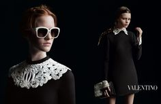 Valentino delivers a stunning Fall Winter 2013 campaign featuring masterfully captured fashion portraits by the celebrated photography duo Inez van Lamsweerde and Vinoodh Matadin. Styling is work of Karl Templer,