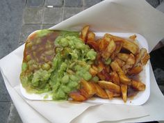 Chips, Mushy Peas and Gravy- A great Northern classic (British food)