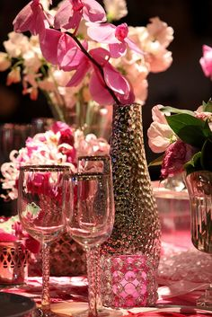 Pinks & Orchids Tablescape