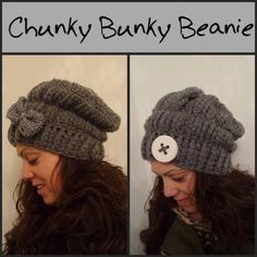 Chunky Bunky Beanie pattern, available in 2 languages (English US) and Dutch.  It takes 2 hours to make, a lot of sizes available!