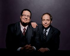 Penn & Teller. My favorite magicians. Their show is thoughtful, thought-provoking, artistic, funny, beautiful.