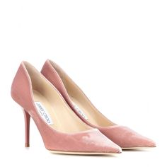 Jimmy Choo - Agnes velvet pumps - Soft and sensual, Jimmy Choo's velvet 'Agnes' pumps will work from dusk until dawn. The feminine shade of pink is especially chic with sleek tailoring, but will work just as well with little black dresses. seen @ www.mytheresa.com