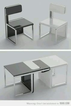 Sensei Chair / Table Set From Claudio Sibille   From Concept Design By  Edigu.