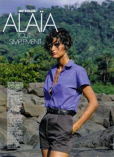 ELLE France 12th February 1990 Au Soleil ALAIA Tout Simplement Model: Vanessa Duve Ph: Gilles Bensimon Stylist: Catherine Bret-Wallon