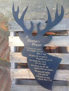 Deer A Hunter's Prayer by HomemadeBlocks on Etsy, $48.00