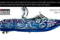 Boat Wraps | Marine Vinyl Graphics | Wake Graphics Sanger Boats, Boat Decals, Red Crafts, Boat Wraps, How To Wrap Flowers, Trash Polka, Rough Riders, Culture Shock, Boat Painting