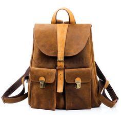 """Кожаный рюкзак """"Римини"""" шоколадный"""