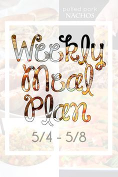Confessions of a Cook Book Queen, 9 months of weekly meal plans