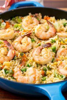 Best Shrimp Fried Rice Recipe - How to Make Shrimp Fried Rice