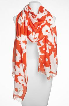 kate spade new york picnic floral scarf | Nordstrom