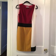 NWOT Calvin Klein Color Block Dress Never worn, great piece for work or day to night. Calvin Klein Dresses