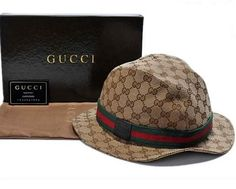 Gucci Fedora with Gucci Trademark Detail