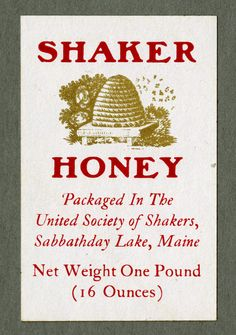 Shaker honey label.