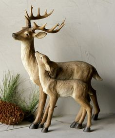 This Deer & Fawn Statue is perfect! #zulilyfinds