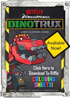 Free Dinotrux Cards, Color Pages, & Activity Sheets #Netflix #Dinotrux #FreePrintables -