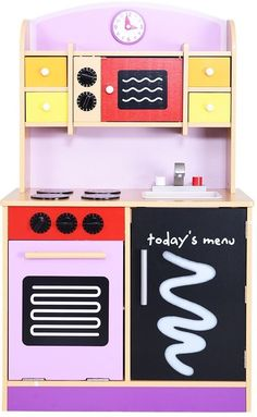 Wood Kitchen Toy Kids Cooking Pretend Play Set Toddler Wooden Playset New #PlayKitchenToys