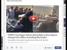 VIDEO: Cop Pepper Sprays School Kids as they Express Outrage Over Officer Assaulting 8th-Grader - wake up to the facts about who the only domestic terrorists in America are!