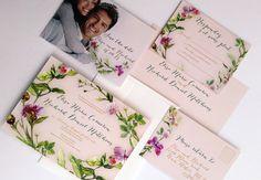 Spring wedding invitations suite - Rustic wedding invitation sample {Crescent design}