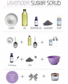 DIY Lavender Sugar Scrub