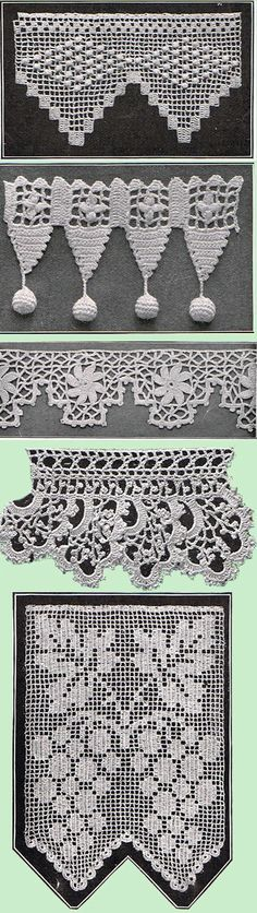 Heirloom Crochet - Vintage Patterns and Instructions - Crochet Edgings and Insertions