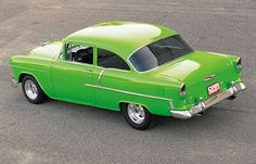 Vintage Cars Muscle Check Out this 1955 Chevy Del Ray nicknamed Kermit. Coverage provided by Car Craft Magazine. 1955 Chevy, 1955 Chevrolet, Chevrolet Bel Air, Chevrolet Trucks, Chevrolet Impala, Vintage Cars, Antique Cars, Toyota, Chevy Muscle Cars