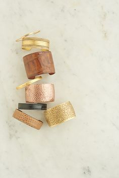 cuff love! we have fabuous cuffs in leather, gold, brass, and rose gold!