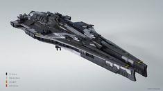 Spaceship, Joakim Englander on ArtStation at https://www.artstation.com/artwork/rLydO