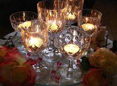 wine glass centerpieces | BRONZE BUDGET BRIDE