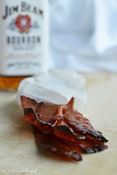 Pair your eggs with some bourbon glazed bacon. - 23 Ways To Make Whiskey Part Of Every Meal
